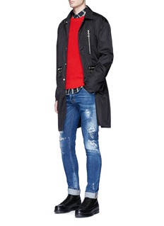 Dsquared2 Nylon bomber trench coat