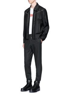 Dsquared2Stud virgin wool-silk blouson jacket