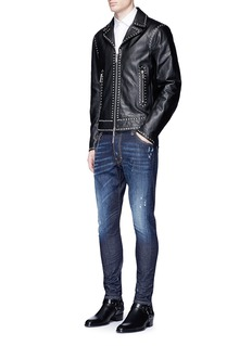 Dsquared2 Stud leather jacket