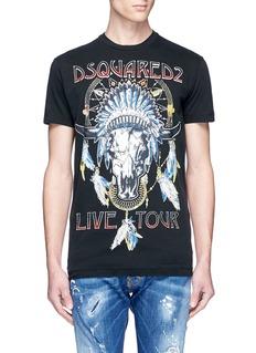 Dsquared2'Live Tour' print cotton T-shirt