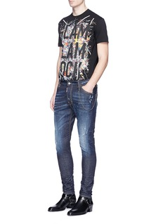 Dsquared2 Strass embellished slogan print T-shirt