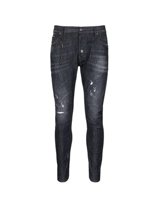 Main View - Click To Enlarge - Dsquared2 - 'Tidy Biker' ripped skinny jeans