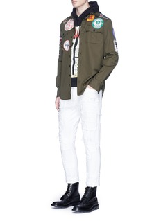 Dsquared2 Logo badge cotton twill shirt