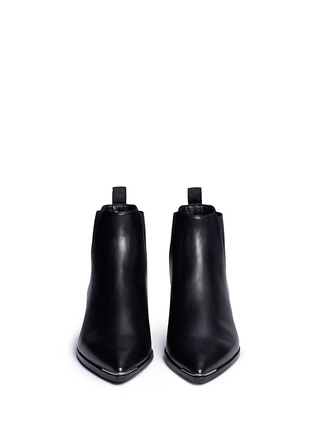 Front View - Click To Enlarge - Acne Studios - 'Jensen' metal trim ankle boots