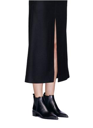 Figure View - Click To Enlarge - Acne Studios - 'Jensen' metal trim ankle boots