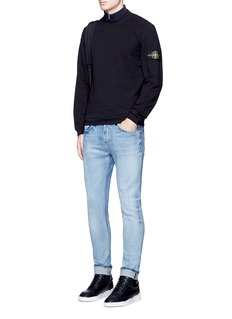 Stone Island Logo patch cotton French terry sweatshirt
