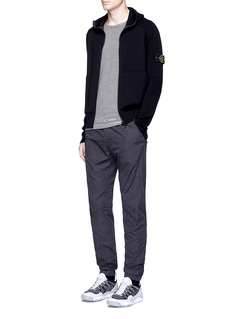 Stone Island Elastic waist cotton blend jogging pants