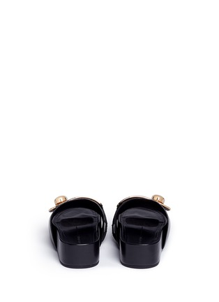 Back View - Click To Enlarge - Stella Luna - Turnlock buckle leather platform slide sandals