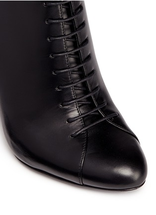 Detail View - Click To Enlarge - Stella Luna - Lace-up leather ankle boots