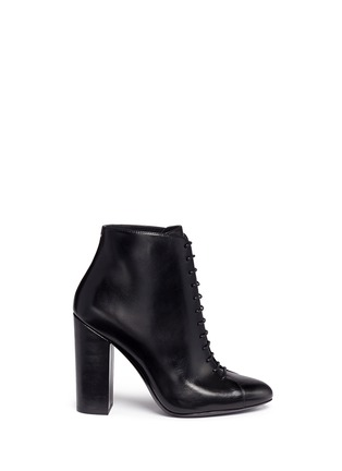 Main View - Click To Enlarge - Stella Luna - Lace-up leather ankle boots