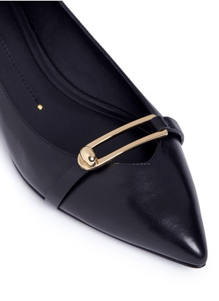 Stella Luna-Turnlock bar leather flats