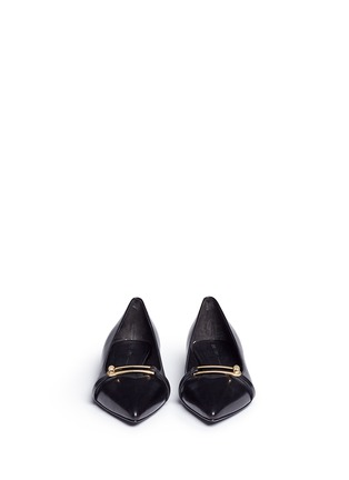 Front View - Click To Enlarge - Stella Luna - Turnlock bar leather flats