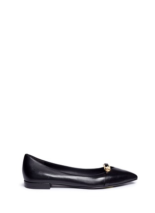 Main View - Click To Enlarge - Stella Luna - Turnlock bar leather flats