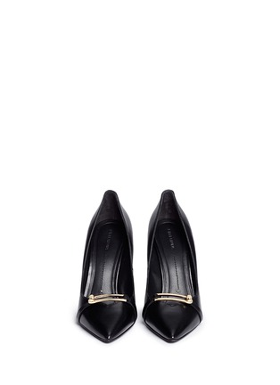 Figure View - Click To Enlarge - Stella Luna - Turnlock bar leather pumps