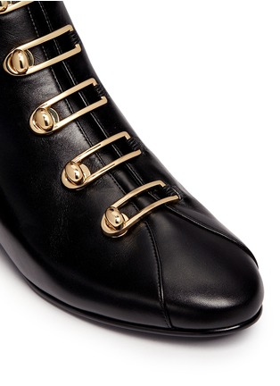 Detail View - Click To Enlarge - Stella Luna - Turnlock buckle leather ankle boots