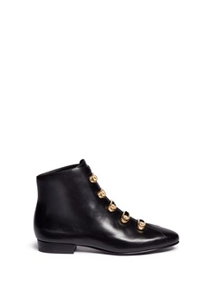Stella LunaTurnlock buckle leather ankle boots
