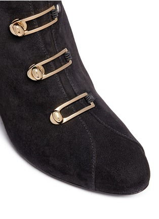 Detail View - Click To Enlarge - Stella Luna - Turnlock buckle suede boots