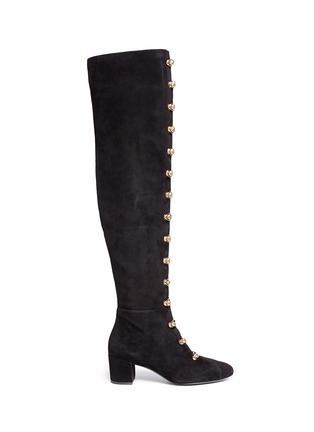 Main View - Click To Enlarge - Stella Luna - Turnlock buckle suede boots