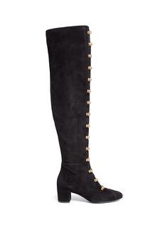 Stella LunaTurnlock buckle suede boots