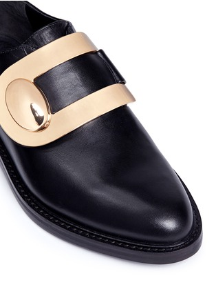 Detail View - Click To Enlarge - Stella Luna - Turnlock monk strap leather shoes