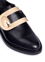 Turnlock monk strap leather shoes