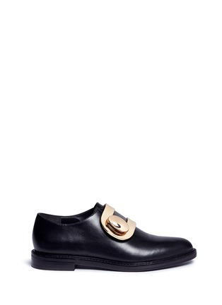 Main View - Click To Enlarge - Stella Luna - Turnlock monk strap leather shoes