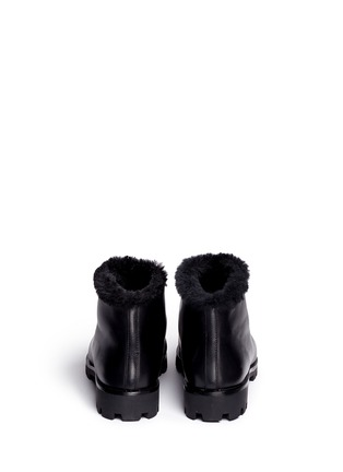 Back View - Click To Enlarge - Stella Luna - Faux fur turnlock buckle ankle boots