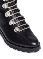Turnlock buckle leather ankle boots