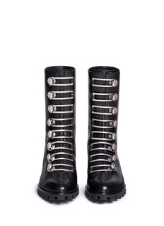 Stella Luna Turnlock buckle leather ankle boots