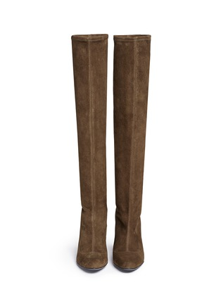 Figure View - Click To Enlarge - Stella Luna - Suede knee high boots