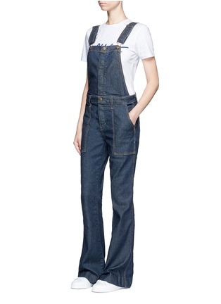 Figure View - Click To Enlarge - Current/Elliott - 'The Clean Flare' dark wash denim overalls