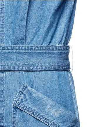 Detail View - Click To Enlarge - Current/Elliott - 'The Whitney Coverall' patchwork denim belted overalls