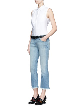 Figure View - Click To Enlarge - Current/Elliott - 'The Cropped Flip Flop' frayed flare jeans