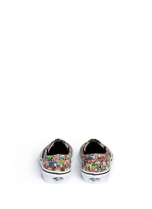 Back View - Click To Enlarge - Vans - x Nintendo 'Classic' character print kids slip-ons