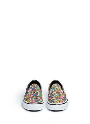 Figure View - Click To Enlarge - Vans - x Nintendo 'Classic' character print kids slip-ons