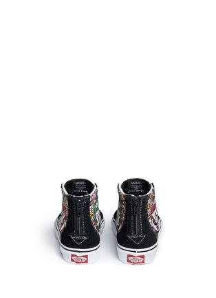 Back View - Click To Enlarge - Vans - x Nintendo 'Sk8-Hi Zip' character print canvas kids sneakers