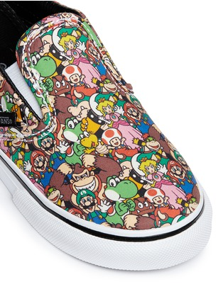Detail View - Click To Enlarge - Vans - x Nintendo 'Classic' character print canvas toddler slip-ons