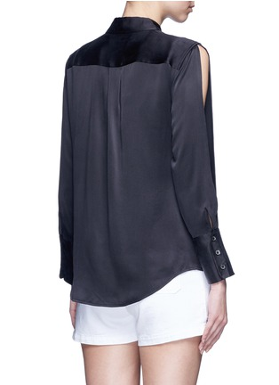 Back View - Click To Enlarge - Equipment - x Kate Moss 'Jonie' split sleeve silk georgette shirt