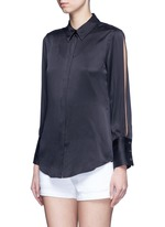x Kate Moss 'Jonie' split sleeve silk georgette shirt