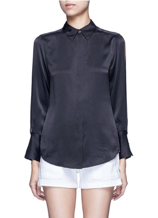 Main View - Click To Enlarge - Equipment - x Kate Moss 'Jonie' split sleeve silk georgette shirt
