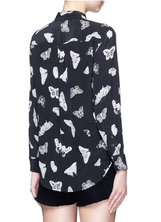Back View - Click To Enlarge - Equipment - 'Slim Signature' butterfly print silk shirt