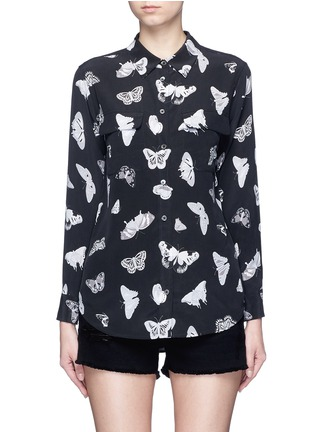 Equipment - 'Slim Signature' butterfly print silk shirt
