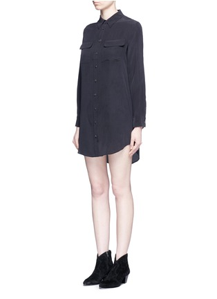 Front View - Click To Enlarge - Equipment - x Kate Moss 'Slim Signature' shirt dress