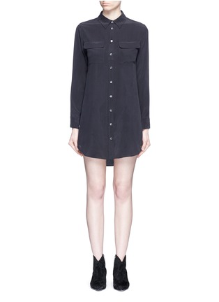 Main View - Click To Enlarge - Equipment - x Kate Moss 'Slim Signature' shirt dress