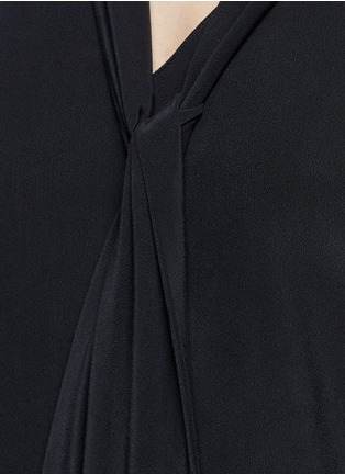 Detail View - Click To Enlarge - Equipment - 'Phaedra' neck tie silk dress