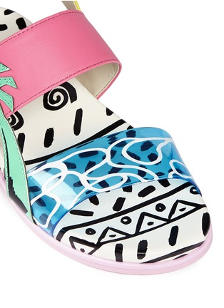 Detail View - Click To Enlarge - Sophia Webster - 'Becky' palm tree embellished leather toddler sandals