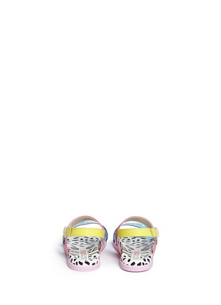 Back View - Click To Enlarge - Sophia Webster - 'Becky' palm tree embellished leather toddler sandals