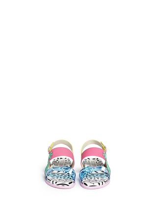Figure View - Click To Enlarge - Sophia Webster - 'Becky' palm tree embellished leather toddler sandals