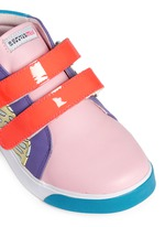 'Riley' mix tropical print mid top toddler sneakers