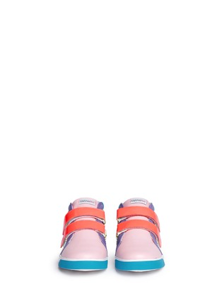 Figure View - Click To Enlarge - Sophia Webster - 'Riley' mix tropical print mid top toddler sneakers